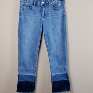 Vince Camuto Ombre Raw Hem Jeans